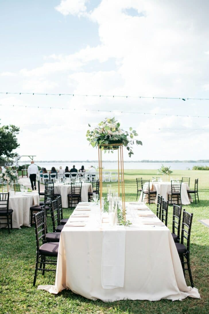 outdoor ceremony and reception