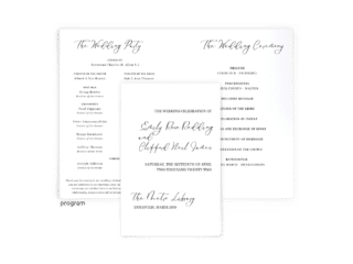 Emily Collection - wedding program