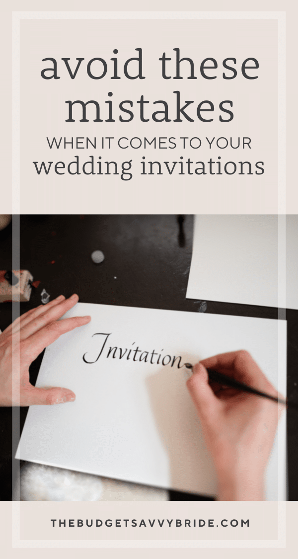 When it comes to wedding planning on a budget, every penny counts. Don't make these wedding invitation mistakes – they could cost you!