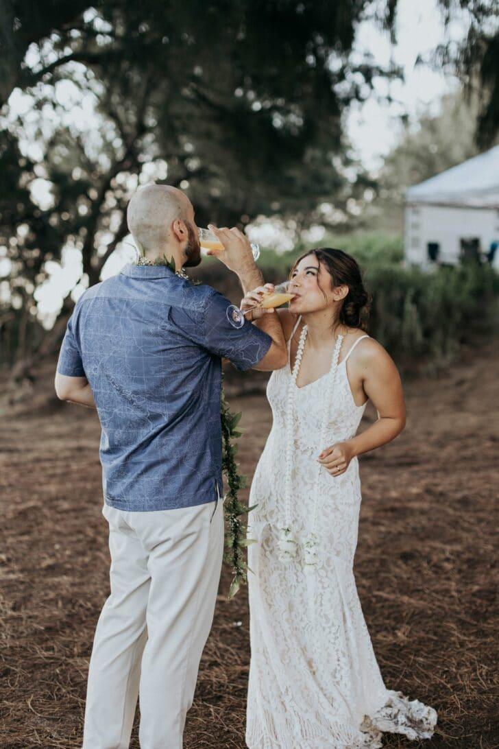 camping elopement in Hawaii