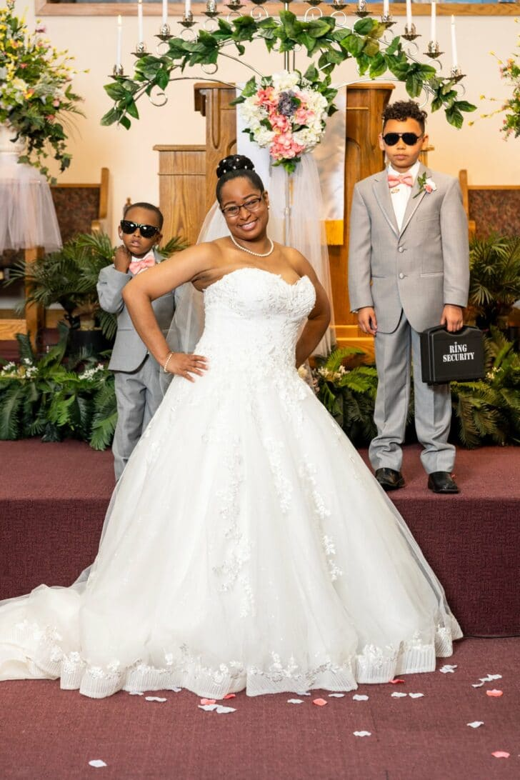 bride and ring bearers