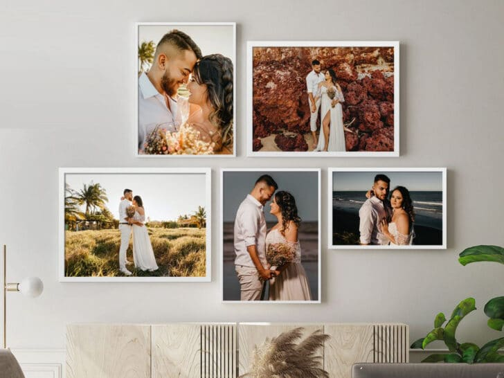 Canvas Champ is an affordable source for custom framed photo prints of your wedding photos
