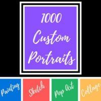 1000 Custom Portraits logo