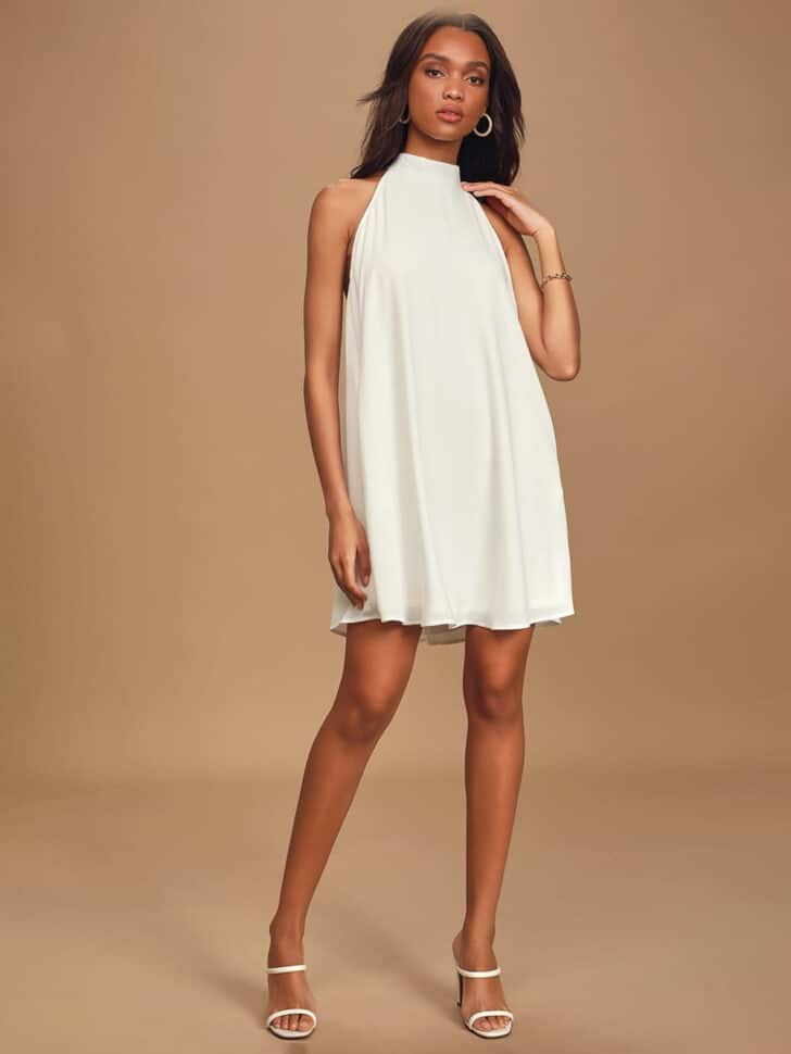 Lulu's Halter Swing Dress - Bridal Shower outfit ideas