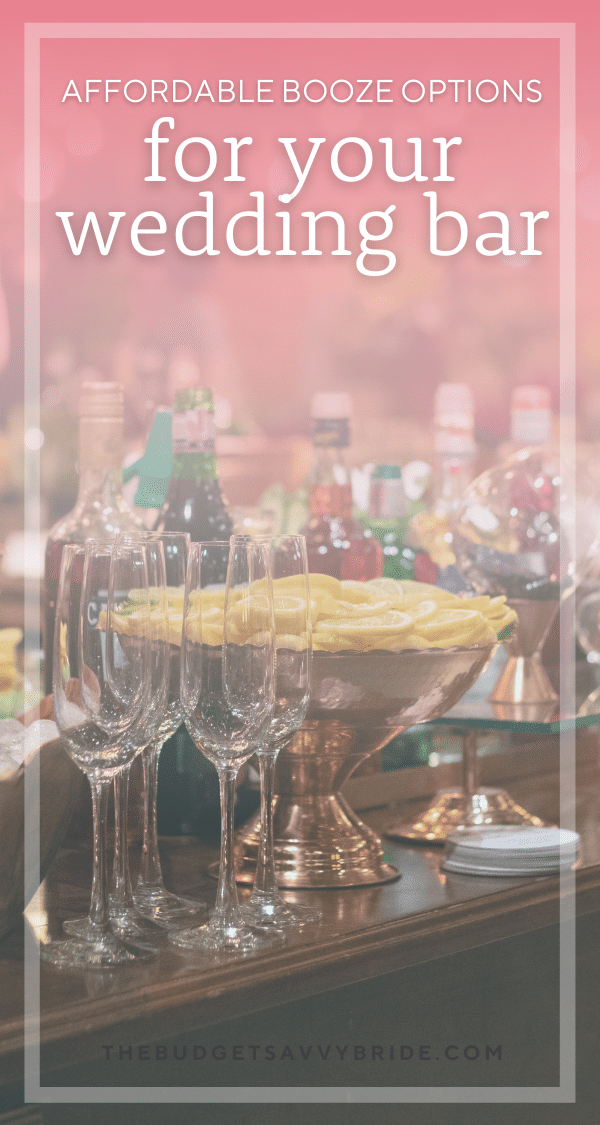 Planning your own wedding bar can save you a ton of money. Learn about some of the top places to buy affordable alcohol for your DIY wedding bar!