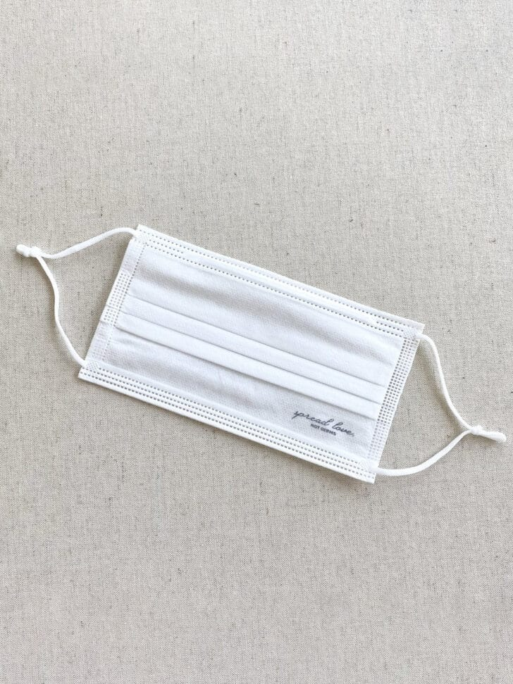 disposable face masks for weddings from birdy grey