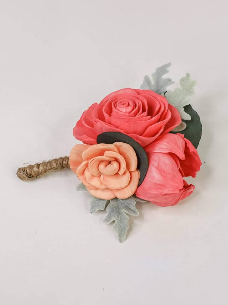 Sola Wood Flowers The Budget Savvy Bride Collection boutonniere