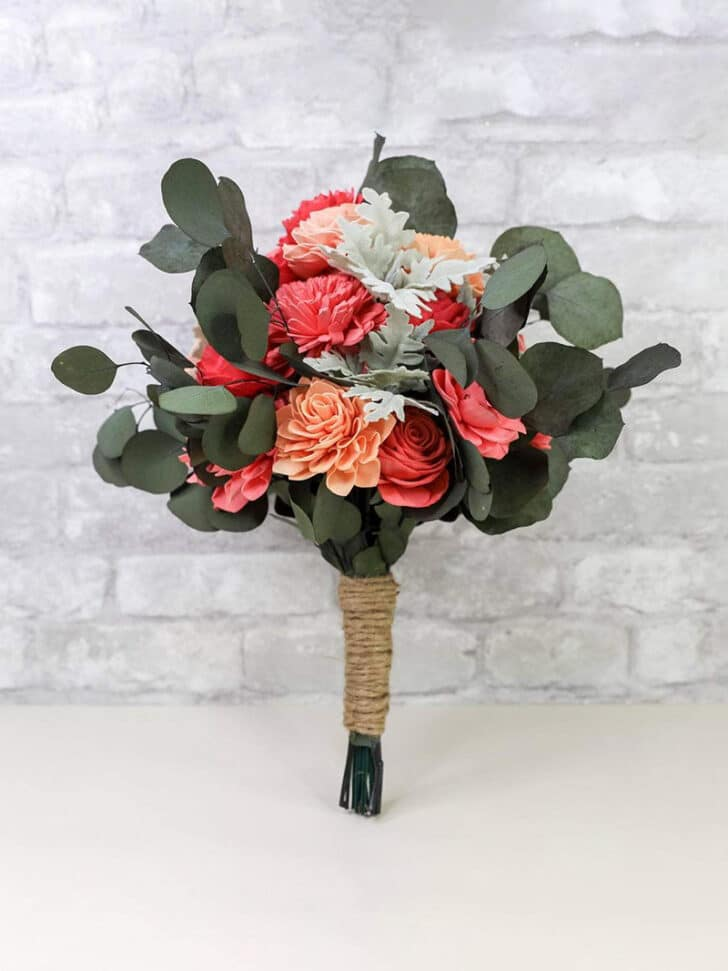 Sola Wood Flowers The Budget Savvy Bride Collection bridesmaids bouquet