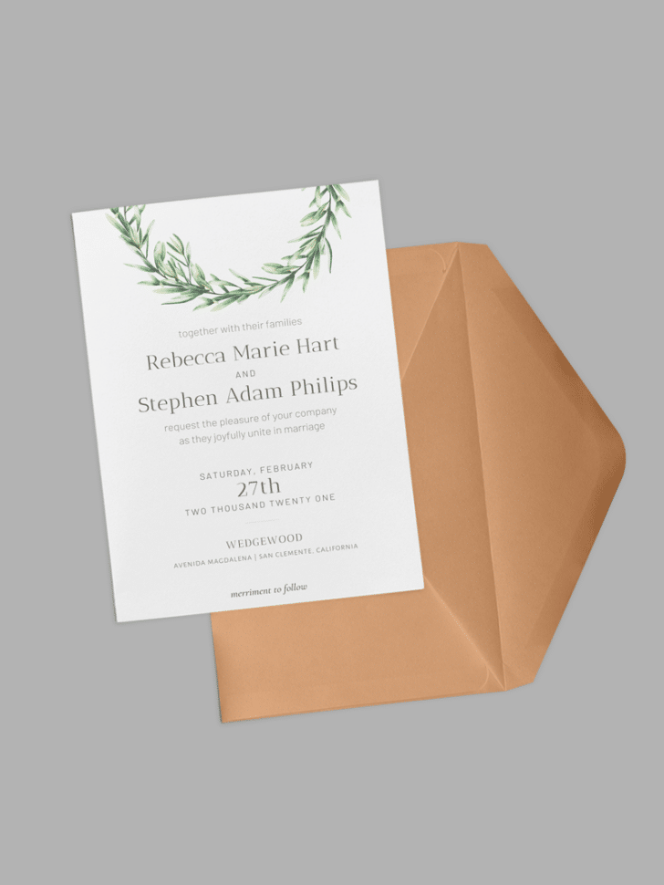 greenery wedding printables
