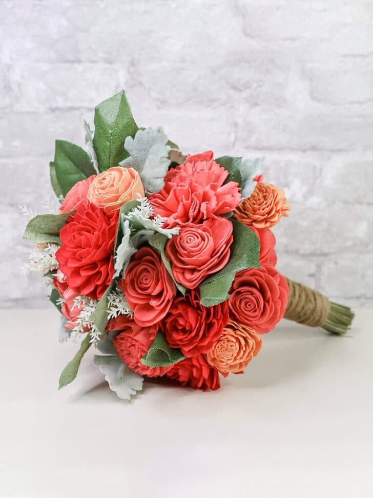 Sola Wood Flowers The Budget Savvy Bride Collection classic bridesmaid bouquet
