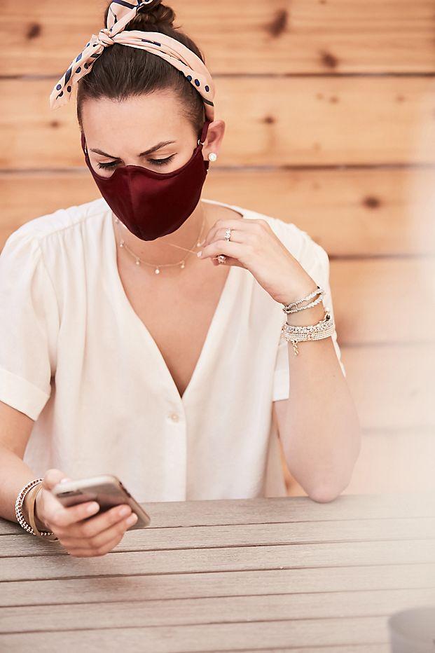 davids bridal satin face masks for weddings