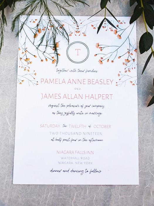 free fall wedding printables