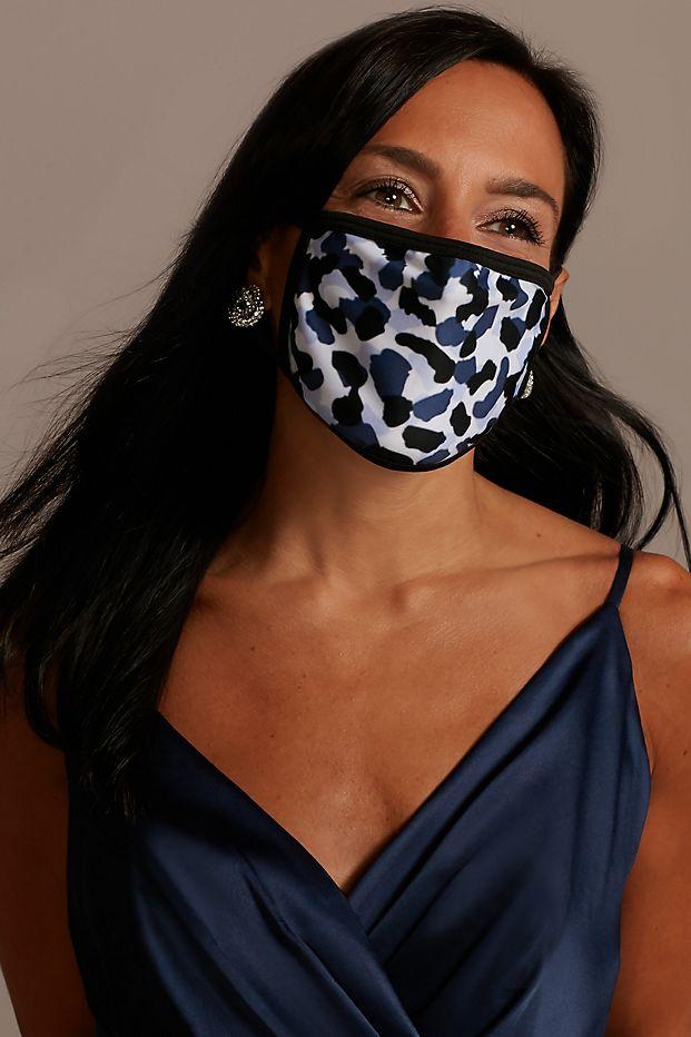leopard print face mask from davids bridal