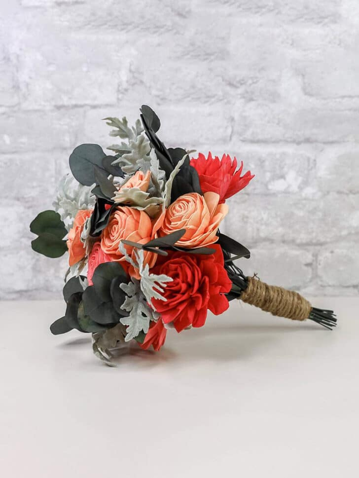 Sola Wood Flowers The Budget Savvy Bride Collection mini bouquet