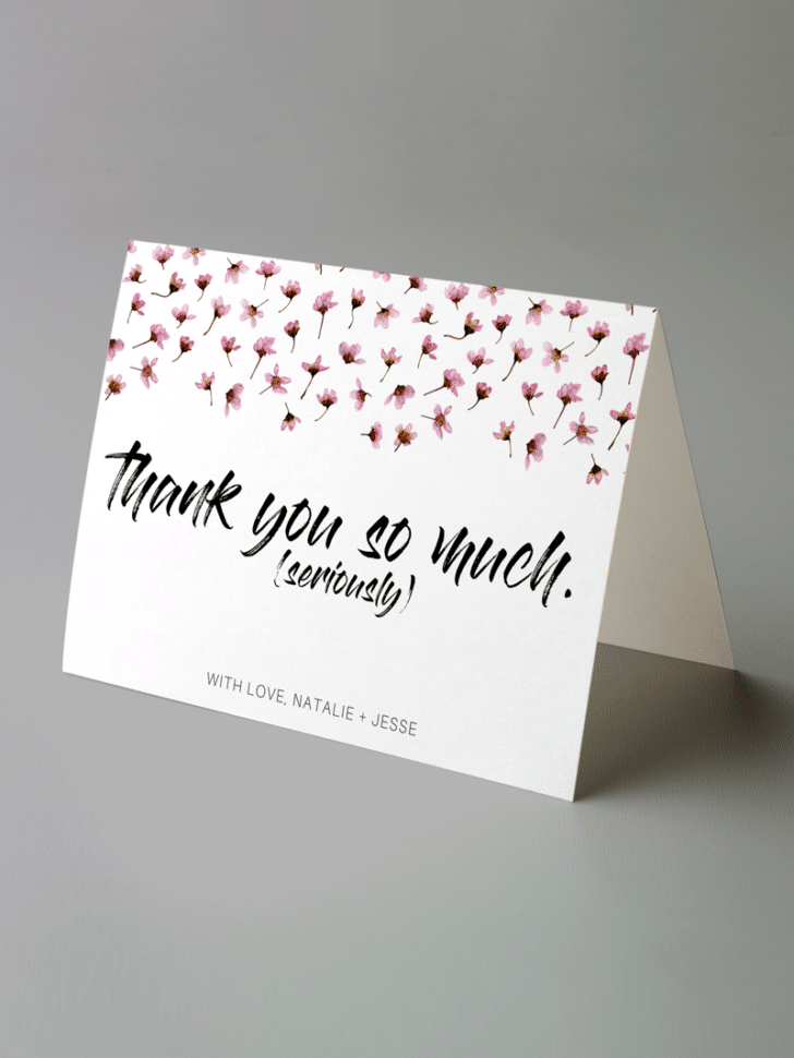 Wedding Thank You Card Printable