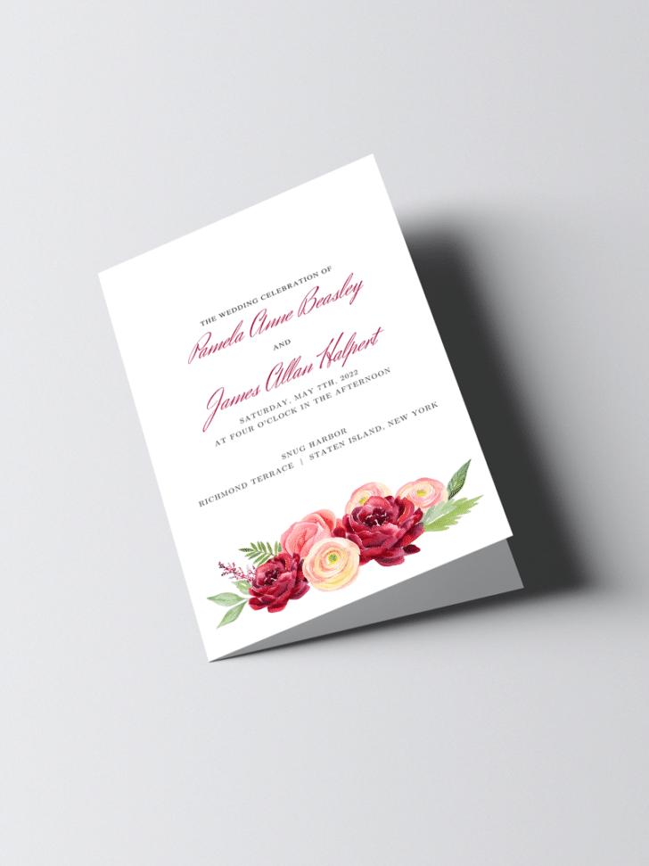 Wedding Ceremony Printable Template