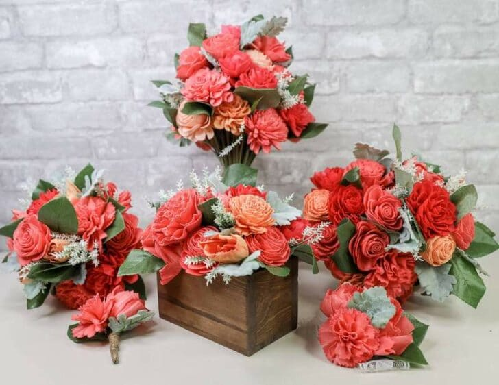 Sola Wood Flowers - The Budget Savvy Bride Collection - Eco-friendly wooden flowers craft kit