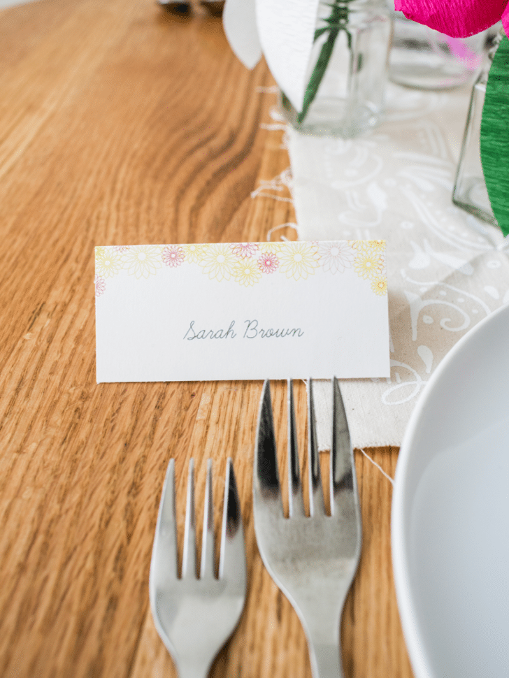 spring place card printables