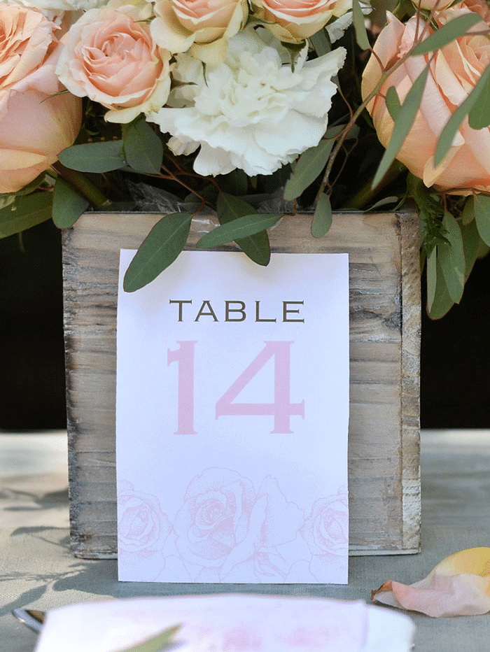 spring table numbers