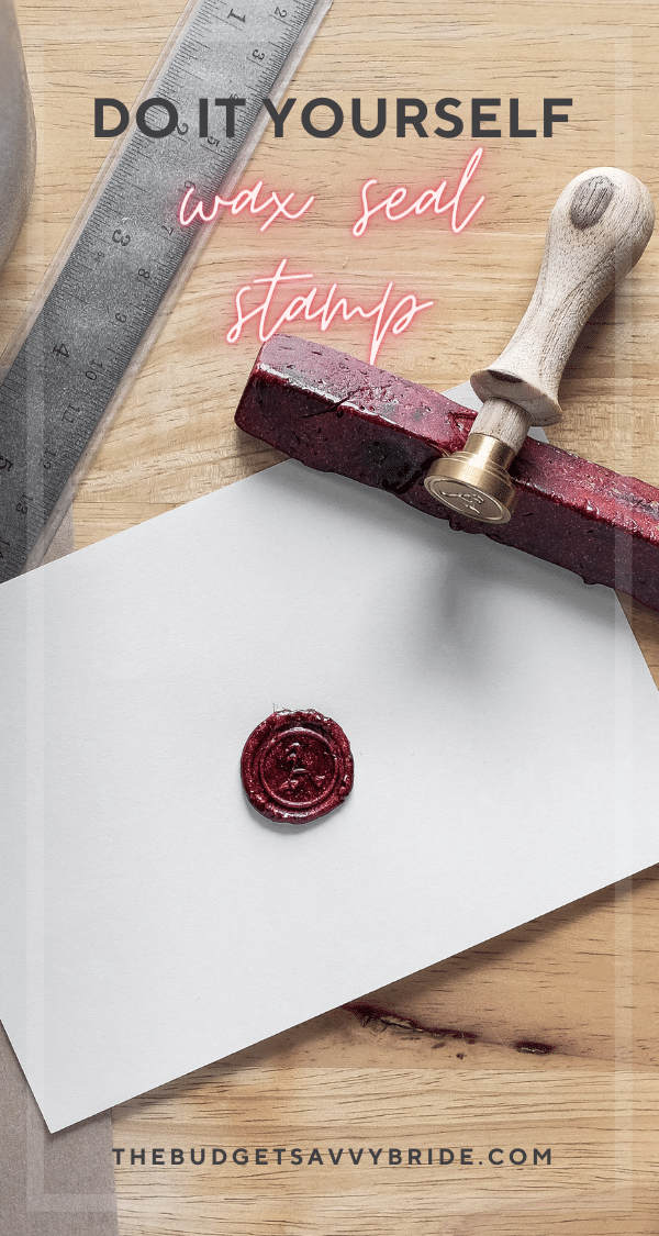 Want to add a special detail to your wedding invitation envelopes? Learn how to make your own DIY Wax Seal Stamp with this simple tutorial.